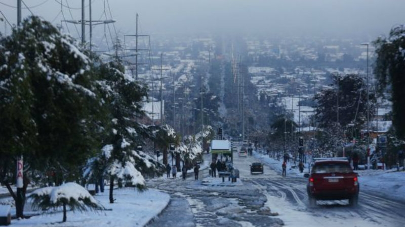 Santiago Chile Snowfall Seeing The World